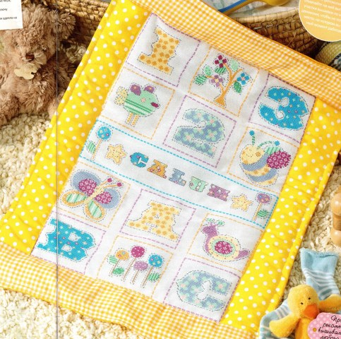 Схема вышивки Детское одеяльце