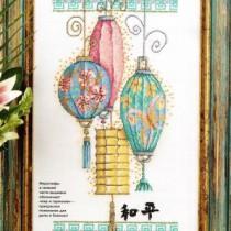 схема вышивки китайские фонарики
