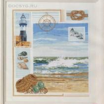 схема вышивки море