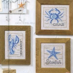 схема вышивки морское трио