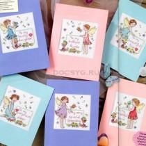 схема вышивки открытки для девчонок