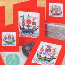 схема вышивки открытки-корабли
