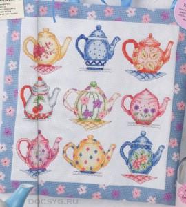 схема вышивки парад чайников