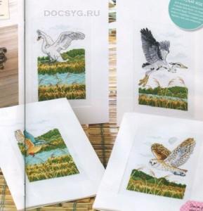 схема вышивки полевые птицы