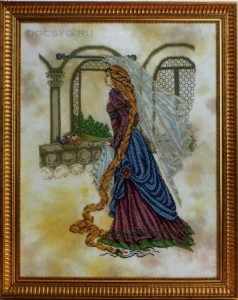 схема вышивки принцесса у окошка