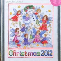 схема вышивки рождественские феи