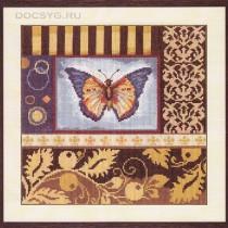 схема вышивки бабочка-вдохновение