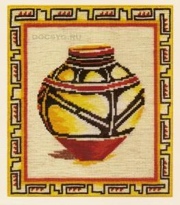 схема вышивки греческий кувшин для оливок