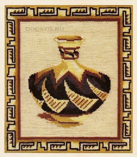 Схема вышивки Греческий кувшин
