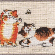 схема вышивки котята