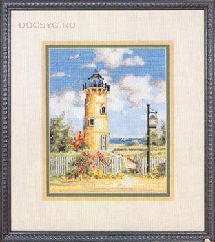 схема вышивки маяк