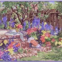 схема вышивки мой сад