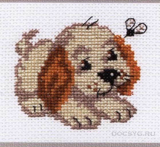 схема вышивки пес бимка