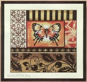 схема вышивки сияние бабочки