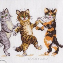 схема вышивки танец котят