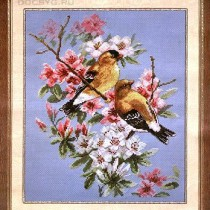 схема вышивки весна