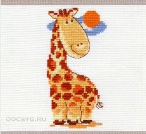 схема вышивки жираф