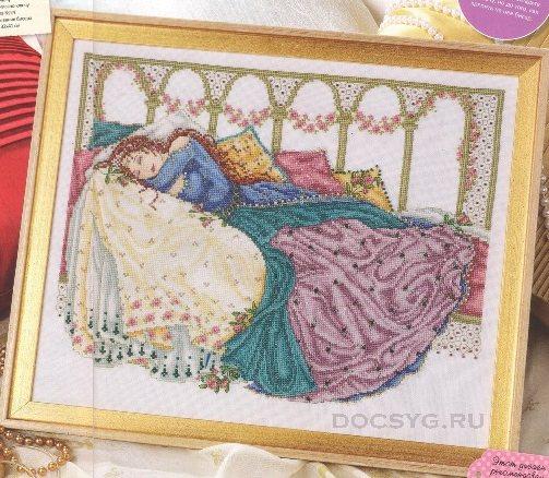 схема вышивки спящая принцесса