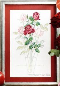схема вышивки воздушные розы