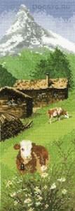 схема вышивки альпийский пейзаж