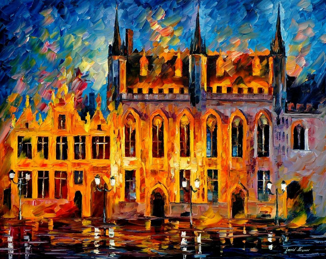 схема вышивки бельгийский замок