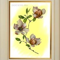 схема вышивки белые цветы