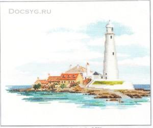 схема вышивки белый маяк