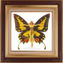 схема вышивки девушка-бабочка