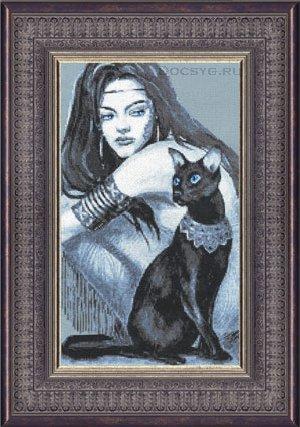 схема вышивки египетская кошка