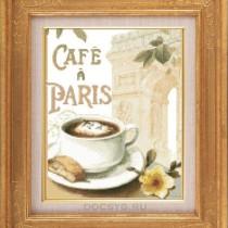 схема вышивки кофе в париже