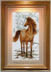 схема вышивки конь