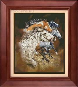 схема  вышивки лошади