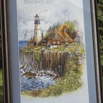 схема вышивки маяк на берегу