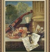 схема вышивки натюрморт со скрипкой