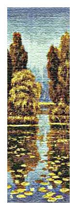 схема вышивки осенний пейзаж