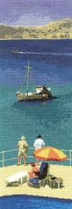 схема вышивки отдых на море