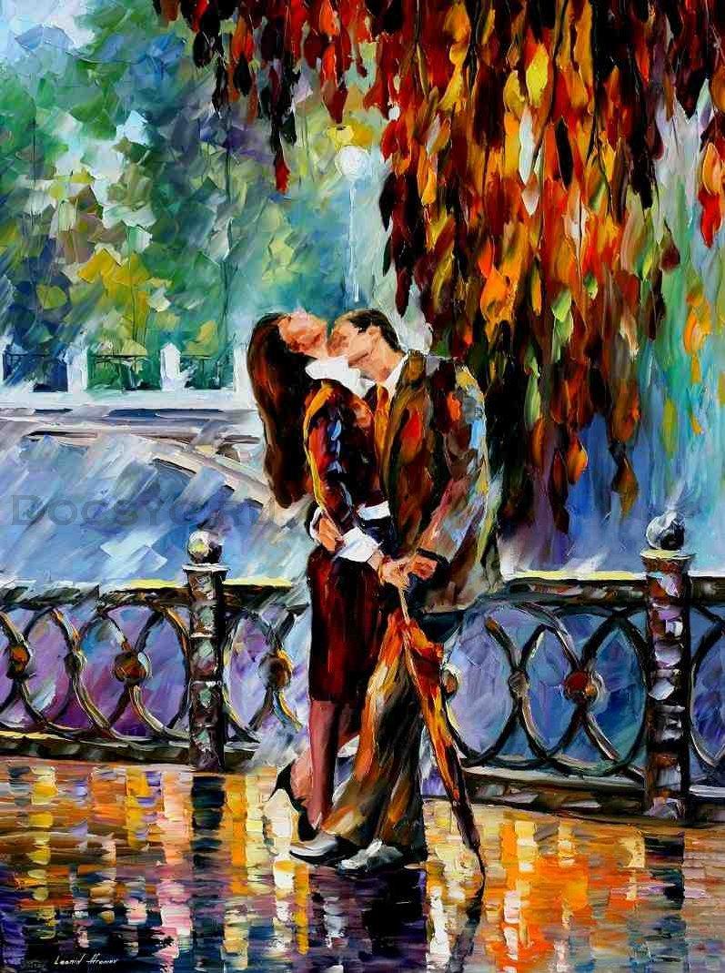 схема вышивки поцелуй после дождя