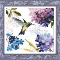 схема вышивки птичка колибри