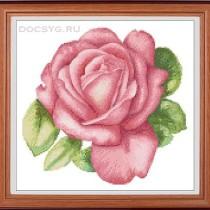 схема вышивки розовый бутон
