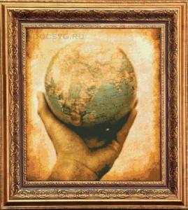 схема вышивки шар земной