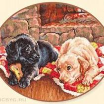 схема вышивки щенки