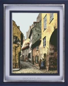 схема вышивки старинная улица
