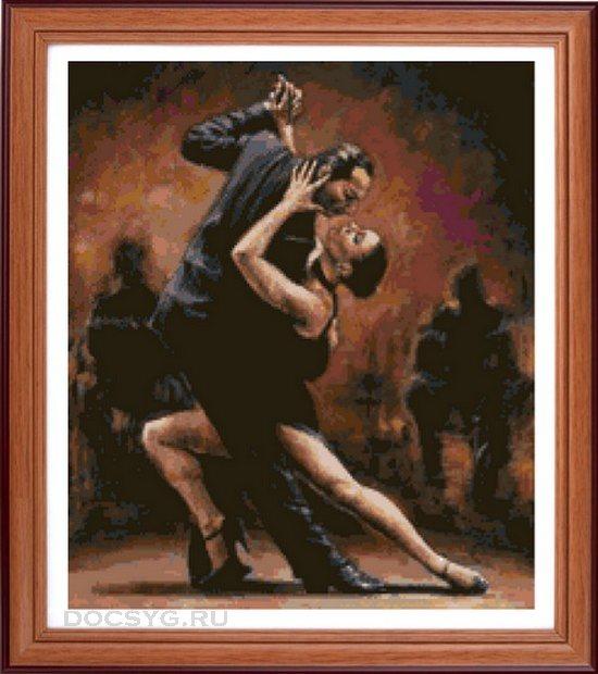 Схема вышивки Танец танго