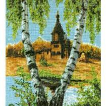 схема вышивки церковь в кижах