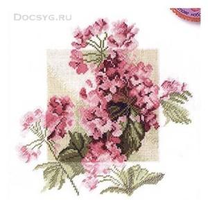 схема вышивки цветок герани