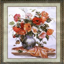 схема вышивки цветы мака