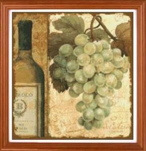 схема вышивки вино и виноград