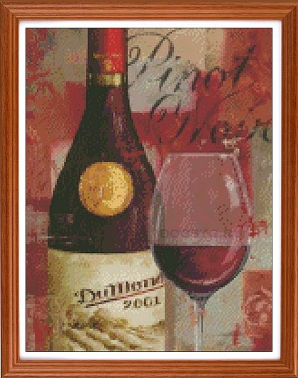 схема вышивки вино цвета страсти