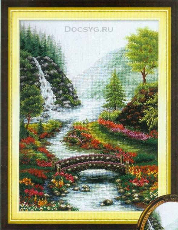 схема вышивки водный пейзаж