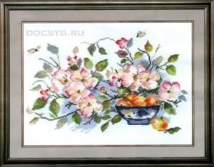 схема вышивки яблоневый цвет